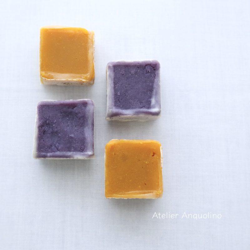 紫芋とかぼちゃの金つば