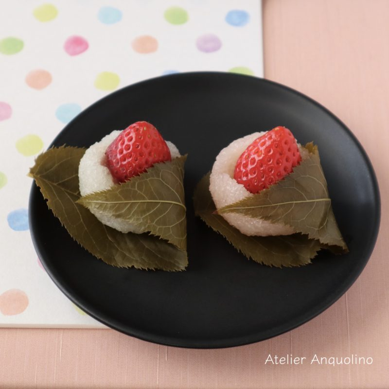 お雛様、いちご桜餅